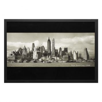 Quadro Manhattan Skyline 2 Preto 60 x 85 cm