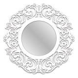 Espelho De Parede  12874B Branco 70x70 Fusi