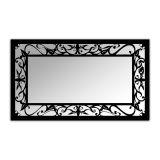 Espelho De Parede  12876P Preto 70x110 Fusi
