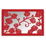 Espelho De Parede  13212V Vermelho 70x110 Fusi