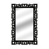 Espelho De Parede  14847P Preto 70x110 Fusi