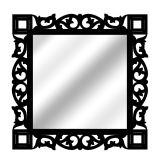 Espelho De Parede  14881P Preto 70x70 Fusi