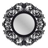 Espelho De Parede 12874P Preto 70x70 Art Shop