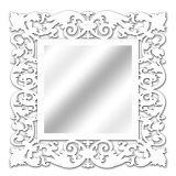 Espelho De Parede 14850B Branco 70x70 Art Shop