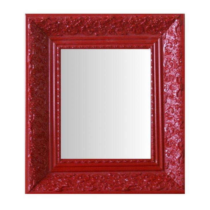 Espelho Moldura Rococó Fundo 16425 Vermelho Art Shop DESCONTO DE R$: 106,00 (23,56% OFF) - OFERTA MOBLY