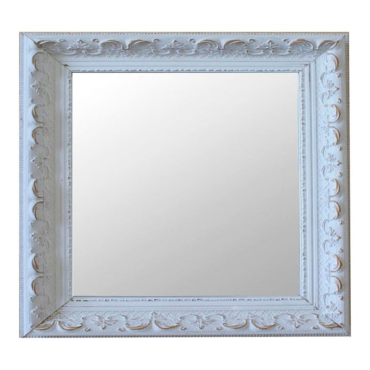 Espelho Moldura Rococó Raso 16282 Branco Patina Art Shop DESCONTO DE R$: 270,00 (31,03% OFF) - OFERTA MOBLY
