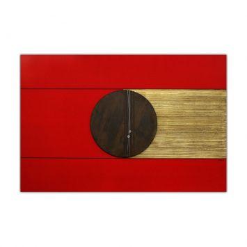 Painel Pintura Com Escultura 12004 Vermelho Art Shop Art Shop 12004