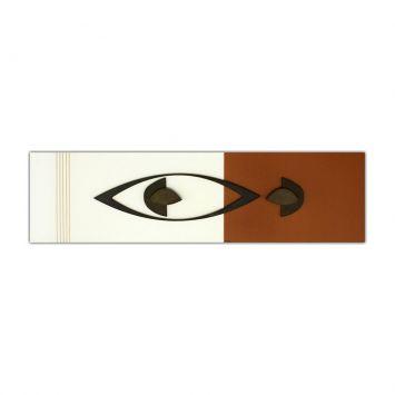 Painel Pintura Com Escultura 12010 Prata Art Shop Art Shop 12010