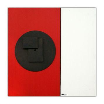 Painel Pintura Com Escultura 12042 Vermelho Art Shop Art Shop 12042
