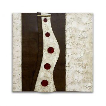 Painel Pintura Com Escultura 12736 Marrom Art Shop Art Shop 12736