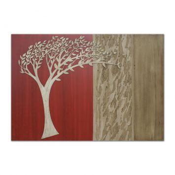 Painel Pintura Com Escultura 15074 Bege Art Shop Art Shop 15074
