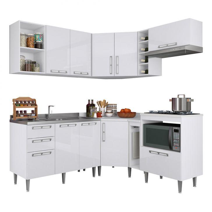 Cozinha Completa 05 Mia Coccina Branca P3 DESCONTO DE R$: 700,00 (23,33% OFF) - OFERTA MOBLY