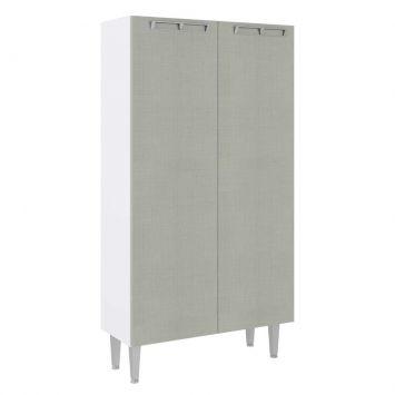 Paneleiro 2 Porta Mia Coccinas 80X149 Branco Com Nude Art in Móveis CZ701 BR - ND - P3