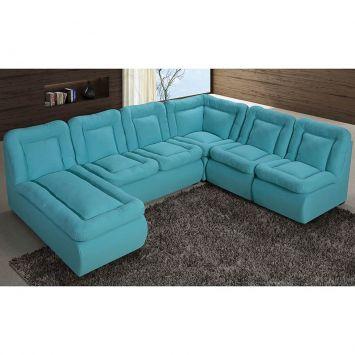 M veis para sala de estar mais de 7500 produtos mobly for Sofa de canto 6 lugares