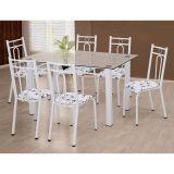 Conjunto Mesa e 6 Cadeiras Júlia Branca