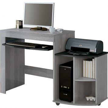 Mesa para Computador On Line Cinza & Preta Artely Mesa de Computador On Line