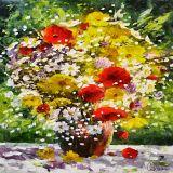 CM9922 - 70 x 70 cm - Arte em Canvas de Celito Medeiros - Tam M
