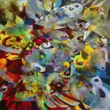 Reprodução em Canvas da obra do artista Celito Medeiros 90 X 90 cm - CM9626 - Tam G