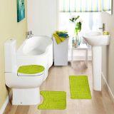 Jogo de Tapetes Samara Croc para Banheiro com 3 Peças Verde