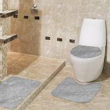 Jogo de Tapetes Samara para Banheiro com 3 Peças Cinza