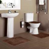 Jogo de Tapetes Samara para Banheiro com 3 Peças Marrom