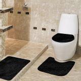 Jogo de Tapetes Samara para Banheiro com 3 Peças Preto