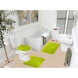 Kit Tapete De Banheiro Samara  3 Peças  Verde Asiatex