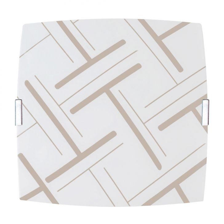 Plafon Quadrado Pequeno Traços Areia DESCONTO DE R$: 20,00 (33,34% OFF) - OFERTA MOBLY
