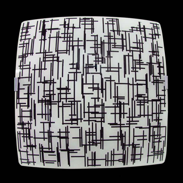 Plafon Sobrepor Quadrado Pequeno Textura Preta Attena DESCONTO DE R$: 30,00 (50,01% OFF) - OFERTA MOBLY