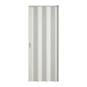 Porta Sanfonada Com Fechadura Branca 060X210 BCF Plast Porta