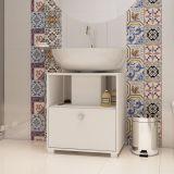 Balcão Para banheiro Porta Basculante BBN 02-06 Branco BRV Móveis