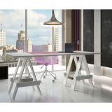 Mesa de Escritório Cavalete BM 43-06 Branco – BRV Móveis