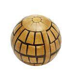 Bola Decorativa De Madeira 9Cm- Marrom - PD0424