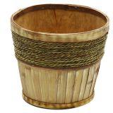 Cachepot De Bambu Com Madeira - FE0017C