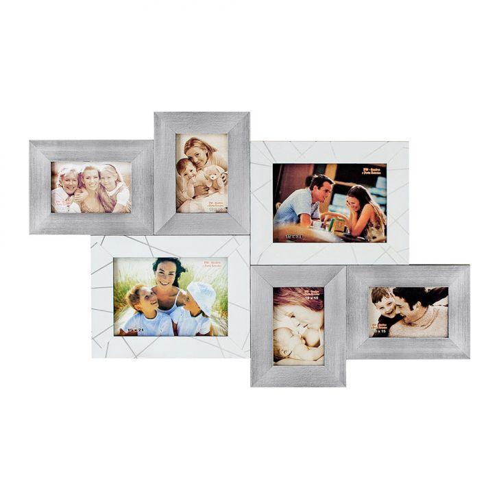 Porta-Retrato 2 Fotos 15X21 cm e 4 Fotos 10X15 cm FM72 2560 BW Quadros