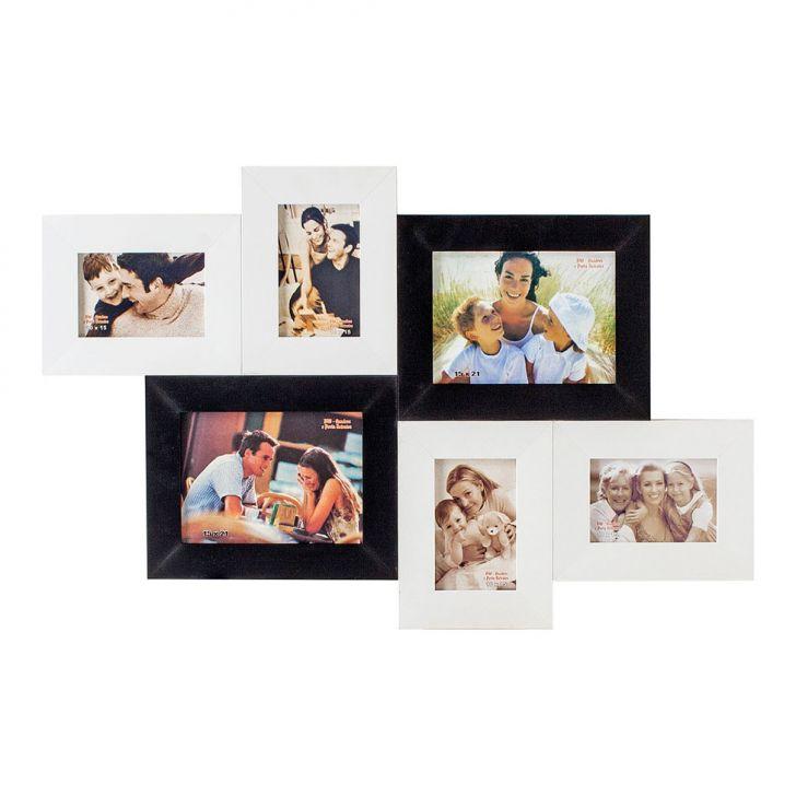 Porta-Retrato 2 Fotos 15X21 cm e 4 Fotos 10X15 cm FM72 PB BW Quadros