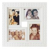 Porta-Retrato 4 Fotos 10x15 Branco BW Quadros