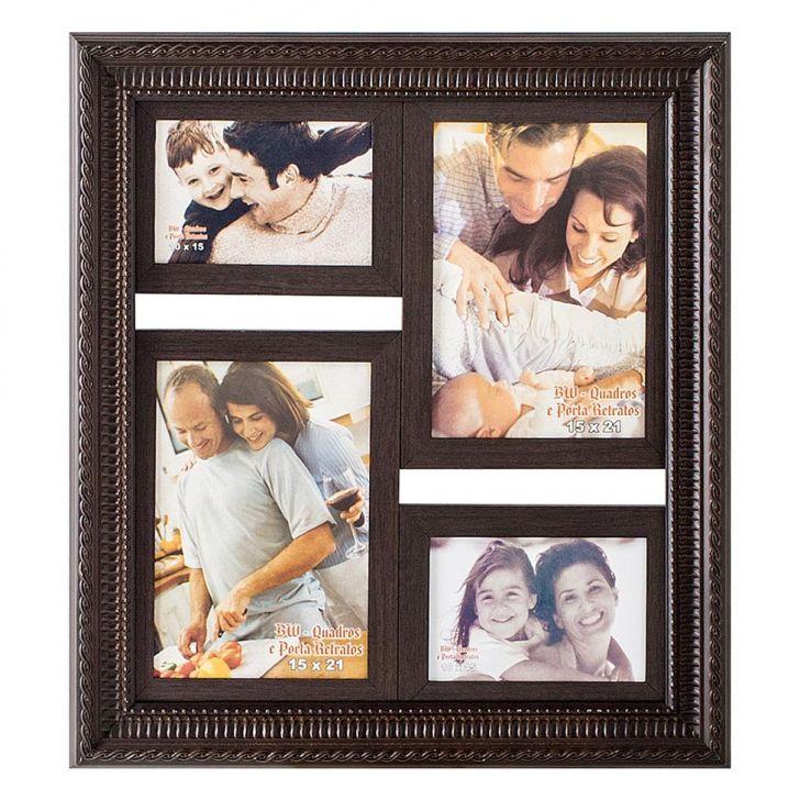 Porta-Retrato para 2 Fotos 15X21 cm e 2 Fotos 10X15 cm FM28 1115 BW Quadros