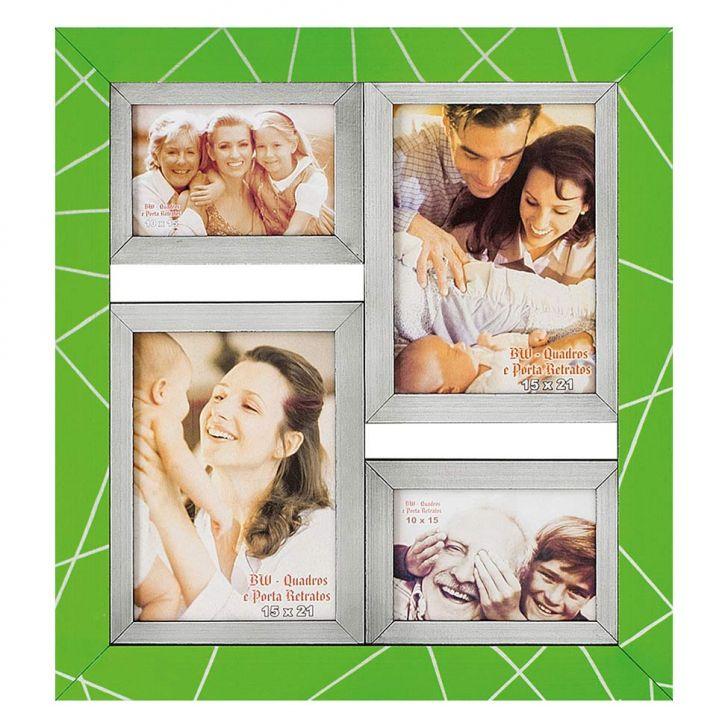 Porta-Retrato para 2 Fotos 15X21 cm e 2 Fotos 10X15 cm FM28 2360 BW Quadros