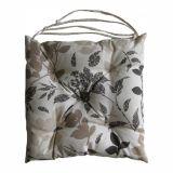 Almofadas para Cadeiras Barcelona 43x43 Floral Marrom
