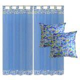 Kit Infantil 1 cortina Algodão 1,80m x 2,00m e 2 almofadas 40x40Bichos
