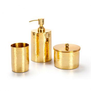 Conjunto de Bancada 3 Peças Gold Plus Dourado Banho Mais BanhoMais Gold Plus