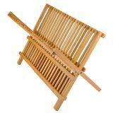 Escorredor De Pratos Em Bambú
