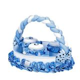 Cesta Redonda Baby Brilhante - Batistela Baby-Baby-Azul