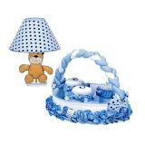 Kit de Acessórios 05 peças Baby Brilhante - Batistela-Baby-Azul