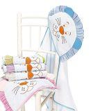 Toalha de Banho com Capuz Felpudo Leão - Batistela Baby-Azul