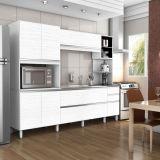 Cozinha Completa Itália 2400 7 PT - 3 GAV Branco Com Bianco Bechara