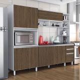 Cozinha Completa Itália II 7 PT 3 GAV Branco com Avelã