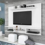 Painel para Tv Bancada Luna III Branco com Textura