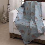 Manta Para Sofá Suede Alga Azul 130x180 Belchior